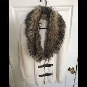 Michael Kors faux fur cape. Large